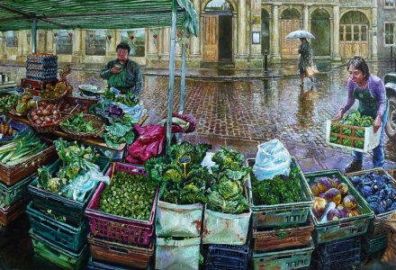 Image of a market veg stall